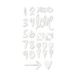 We R Memory Keepers - Love Notes Collection - Acrylic Shape Stickers