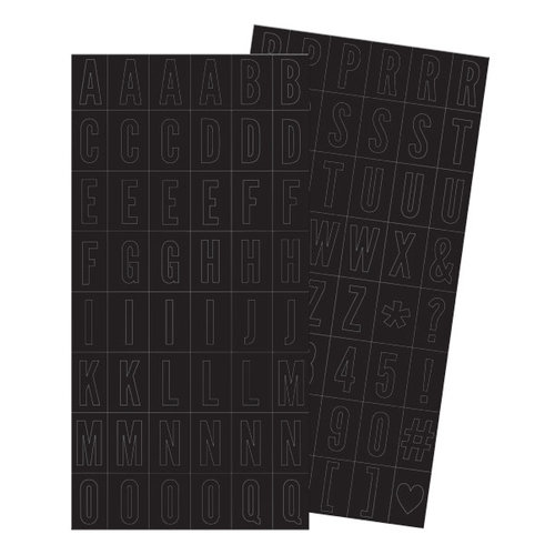 We R Memory Keepers - Love Notes Collection - Alpha Block Plastic Stickers - Alphabet