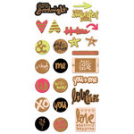 We R Memory Keepers - Love Notes Collection - Cork Stickers