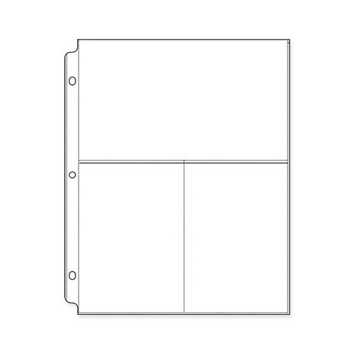 We R Memory Keepers - 8.5 x 11 Page Protectors with Two 6 x 4 One 4.75 x 8.5 Inch Photo Sleeves - 10 Pack