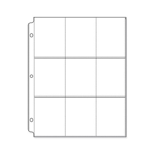 We R Memory Keepers - 8.5 x 11 Page Protectors with Nine 3.5 x 2.625 Inch Photo Sleeves - 10 Pack