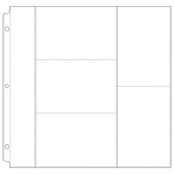 We R Memory Keepers - 12 x 12 Page Protectors with Three 4 x 6 Two 6 x 4 One 12 x 2 Photo Sleeves - 10 Pack