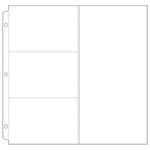 We R Memory Keepers - Page Protectors - Three 4 x 6 One 6 x 12 - Fits 12 x 12 Three Ring Albums
