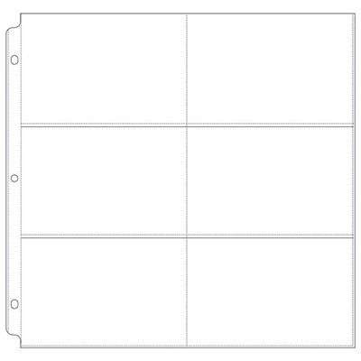 We R Memory Keepers - Page Protectors - 6 Up - 4x6 Inch Photo Sleeves - Fits 12x12 Three Ring Albums