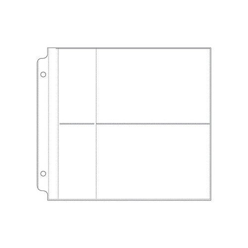 We R Memory Keepers - Page Protectors - 2 Up - 4x6 Inch Photo Sleeves - Fits 8x8 Post Bound Albums