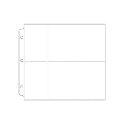 We R Memory Keepers - Page Protectors - 2 Up - 4x6 Inch Photo Sleeves - Fits 8x8 Three Ring Albums
