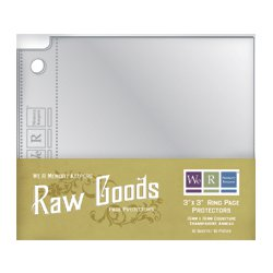 We R Memory Keepers - Raw Goods Collection - 3x3 Page Protectors, CLEARANCE