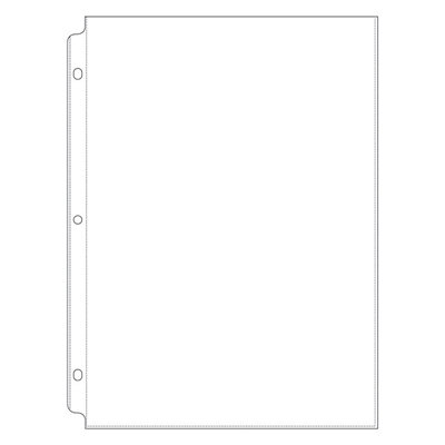 Memory Keepers Sheet Protector Refills - 8.5 x 11 3-Ring
