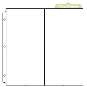 We R Memory Keepers - 12 x 12 Page Protectors with Four 6 x 6 Inch Photo Sleeves - 10 Pack