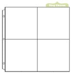 We R Memory Keepers - Page Protectors - Four 6 x 6 Inch Photo Sleeves - Fits 12 x 12 Three Ring Albums