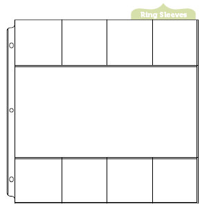 We R Memory Keepers - 12 x 12 Page Protectors with One 6 x 12 Eight 3 x 3 Inch Photo Sleeves - 10 Pack