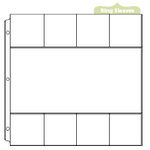 We R Memory Keepers - Page Protectors - One 6 x 12 Eight 3 x 3 Inch Photo Sleeves - Fits 12 x 12 Three Ring Albums