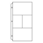 We R Memory Keepers - 6 x 12 Page Protectors with Two 6 x 4 and Two 3 x 4 Photo Sleeves - 10 Pack