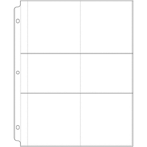 We R Memory Keepers - 8.5 x 11 Page Protectors with Four 4 x 4 Two 4 x 3 Photo Sleeves - 10 Pack
