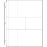We R Memory Keepers - 8.5 x 11 Page Protectors with Two 2 x 4 Two 6 x 4 Two 3 x 4 Photo Sleeves - 10 Pack