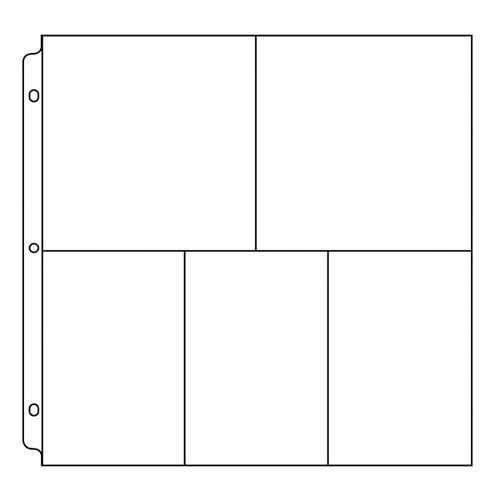We R Memory Keepers - 12 x 12 Page Protectors - 6x4-3up and 6x6-2up Photo Sleeve - 10 Pack