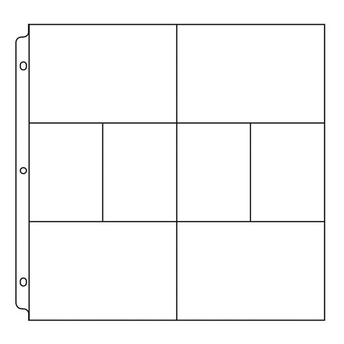 We R Memory Keepers - 12 x 12 Page Protectors with Four 6 x 4 Four 3 x 4 Photo Sleeves - 10 Pack