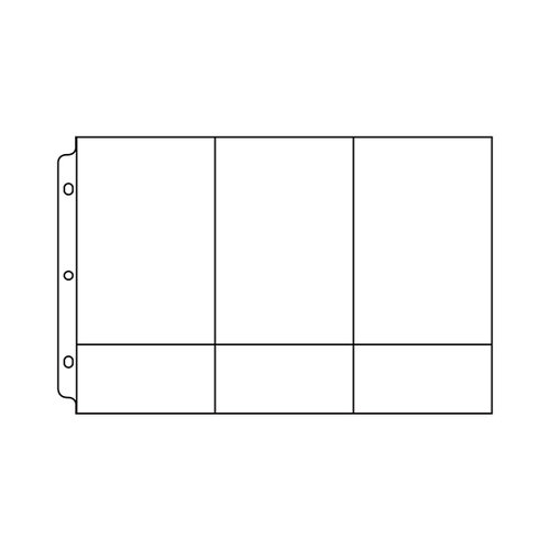 We R Memory Keepers - 8 x 12 Page Protectors with Three 4 x 6 Three 4 x 2 Inch Photo Sleeves - 10 Pack