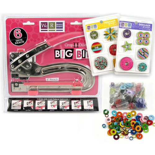 We R Memory Keepers - Crop-A-Dile II Big Bite and Gromlets Kit, BRAND NEW