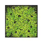We R Memory Keepers - Black Out Halloween Collection - 12 x 12 Flocked Paper - Gomez, CLEARANCE
