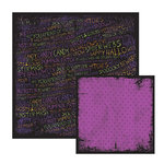 We R Memory Keepers - Black Out Halloween Collection - 12 x 12 Double Sided Paper - Morticia, CLEARANCE