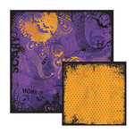 We R Memory Keepers - Black Out Halloween Collection - 12 x 12 Double Sided Paper - Thing, CLEARANCE
