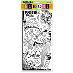 We R Memory Keepers - Black Out Halloween Collection - Rub Ons - Black, CLEARANCE