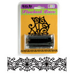 We R Memory Keepers - Black Out Halloween Collection - Self Adhesive Flocked Lace - Halloween Web