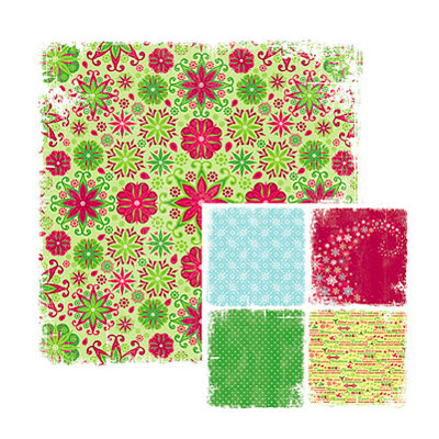 We R Memory Keepers - White Out Christmas Collection - 12 x 12 Double Sided Paper - Festivity, CLEARANCE
