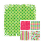We R Memory Keepers - White Out Christmas Collection - 12 x 12 Double Sided Paper - Ivy, CLEARANCE