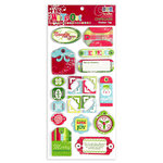 We R Memory Keepers - White Out Christmas Collection - Layered Chipboard Tags, CLEARANCE