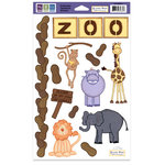 We R Memory Keepers - Embossible Designs - Embossed Cardstock Stickers - Zoo