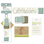 We R Memory Keepers - Dip Sticks - Tags - Family, CLEARANCE