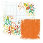We R Memory Keepers - White Out Collection - Frenzy - 12x12 Double Sided Cardstock - Dither, CLEARANCE