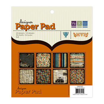 We R Memory Keepers - MVP Collection - 6 x 6 Designer Paper Pad