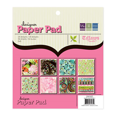 We R Memory Keepers - Tiffanys Collection - 6 x 6 Designer Paper Pad