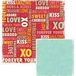 We R Memory Keepers - Heart Attack Collection - 12 x 12 Double Sided Paper - XOXO, CLEARANCE