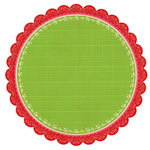 We R Memory Keepers - Merry and Bright Collection - Christmas - 12 x 12 Die Cut Paper - Tree Skirt, CLEARANCE