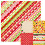 We R Memory Keepers - Merry and Bright Collection - Christmas - 12 x 12 Double Sided Paper - Tinsel, CLEARANCE