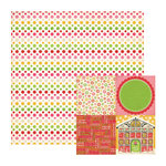 We R Memory Keepers - Merry and Bright Collection - Christmas - 12 x 12 Double Sided Paper - Garland, CLEARANCE