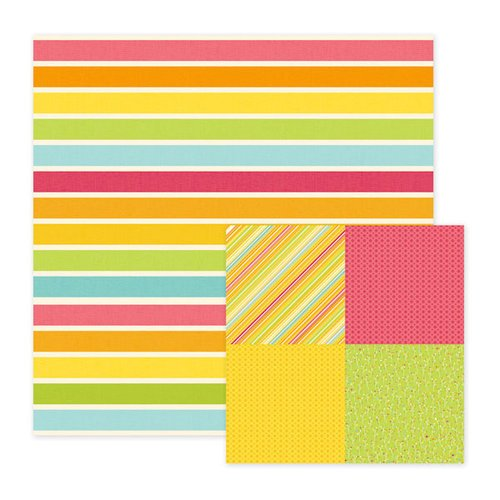 We R Memory Keepers - Hippity Hoppity Collection - Easter - 12 x 12 Double Sided Paper - Rainbow's End, CLEARANCE