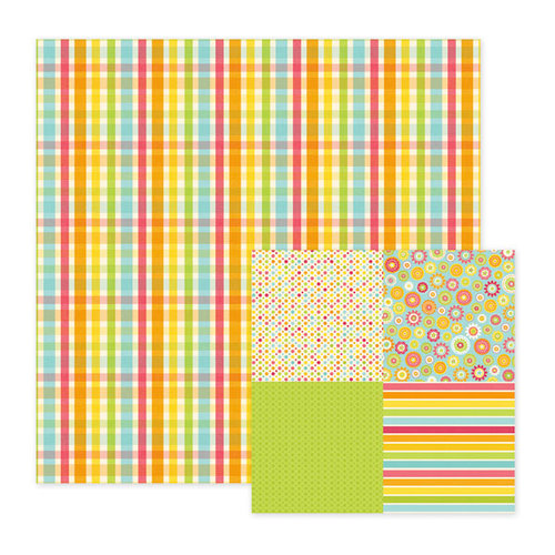 We R Memory Keepers - Hippity Hoppity Collection - Easter - 12 x 12 Double Sided Paper - Wicker, BRAND NEW