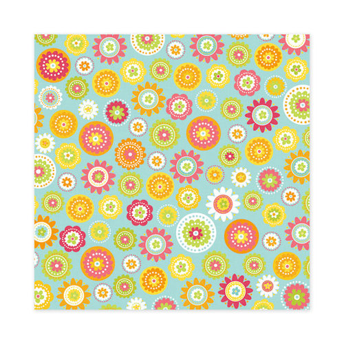 We R Memory Keepers - Hippity Hoppity Collection - Easter - 12 x 12 Glitter Paper - Dancing Daisies, CLEARANCE