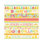 We R Memory Keepers - Hippity Hoppity Collection - Easter - 12 x 12 Glitter Paper - Easter Fun, CLEARANCE