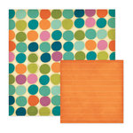 We R Memory Keepers - Vintage Blue Collection - 12 x 12 Double Sided Paper - Peachy Keen, CLEARANCE