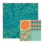 We R Memory Keepers - Vintage Blue Collection - 12 x 12 Double Sided Paper - Just Dandy, CLEARANCE