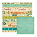 We R Memory Keepers - Vintage Blue Collection - 12 x 12 Double Sided Paper - Simply Wonderful, CLEARANCE