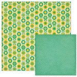 We R Memory Keepers - 72 and Sunny Collection - 12 x 12 Double Sided Paper - Flower Patch, CLEARANCE