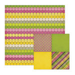 We R Memory Keepers - Retro Glam Collection - 12 x 12 Double Sided Paper - Gene