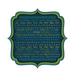 We R Memory Keepers - Show and Tell Collection - 12 x 12 Die Cut Paper - Blackboard, CLEARANCE